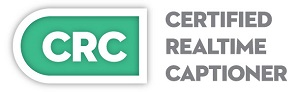 Certified Realtime Captioner Logo